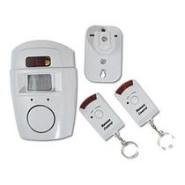Kit Alarme Sem Fio Com Sensor De Presença Sirene 2 Controles