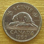 Moneda Canada De 5 Cents De 1965
