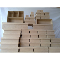 Caixa Em Mdf Cru - 10x10x5-kit Com 20 Unidades R$ 30,00