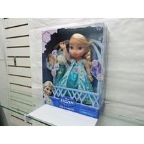 Muñeca Elsa Canta Conmigo Microfono Disney Frozen