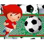 Kit Imprimible Futbol Diseñá Tarjetas Cumples Cotillon #2