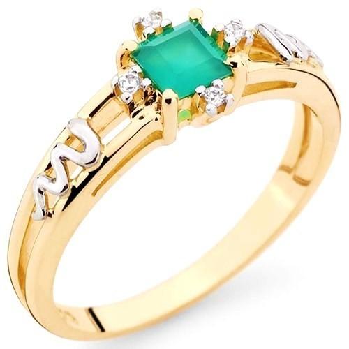 Anel Formatura grau Ouro 18k, Pedra Natural E 4 Diamantes - R  1.480,00 em  Mercado Livre 1dbfec7ae2