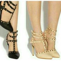 Tacones Botas Plataforma Dama Zapato Deportivos Negro Dorado