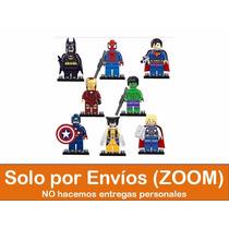 Set De 8 Mini Figuras Heroes Avengers Marvel Compatible Lego