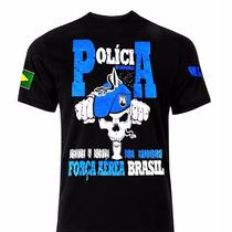 Camiseta Militar- Polícia Da Aeronáutica- Força Aérea Brasil