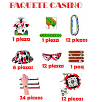Paquete Casino Poker Vegas Cartas Party And Fiesta Tema