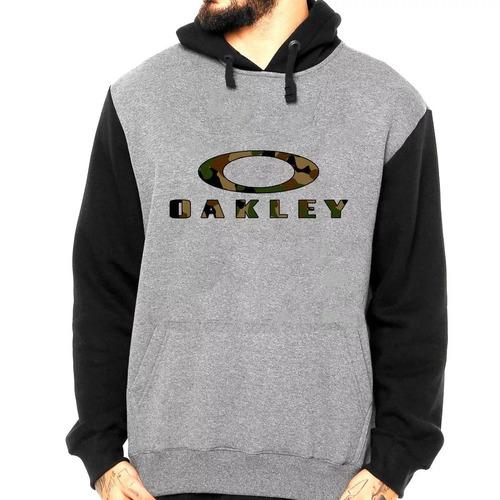 Blusa Moletom Oakley Camuflado Moleton Masculino Canguru - R  69 1e9fae06adb86