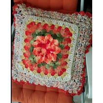 Capa Almofada Croche Artesanal Decorativa Barroco