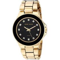Reloj Anne Klein Diamond Metal Dorado Mujer Ak/2754bkgb