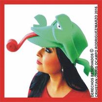 Sombrero Espuma Camaleon Boda Fiesta Xv Dj Lentes Peluca