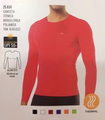 Camisa Térmica Manga Longa C  Proteção Uv 50 Marca Elite - R  58 04280952b68a7