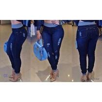 Calça Destroyd Hot Pants Saruel Feminina Jeans Com Moletom