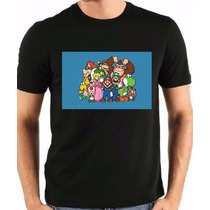 Camisetas Bowser Peach Toad Koopalin Koopa Super Mario Bros