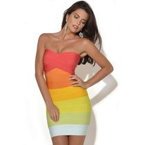 Vestido Bandagem Importada Multicolor