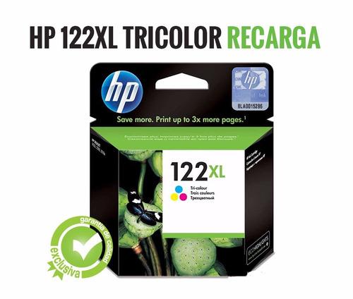 Recarga De Cartucho Hp 122xl Color Ch564hl