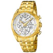 Relógio Festina Masculino Aço Dourado - F16656/3 - Ft000026