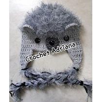 Gorro Puercoespin Tejido Crochet Bebés