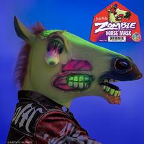 Máscara Zombie De Caballo De Látex Original Archie Mcphee