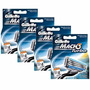 Kit C/4 Cargas Gillette Mach 3 Turbo -cada Carga 4 Cartuchos