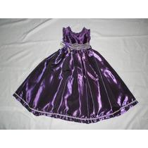 Nuevo Vestido Largo Satinado Fiesta Princesa Noche 4 Años