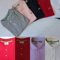 Kit 5 Camisa Camiseta Gola Polo Lacost Masculina Importada