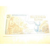 Indonesia Billete 2 1/2 Rupiah Fecha 1961 Nuevo Sin Circula