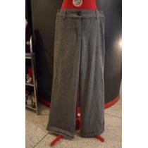 Pantalon De Vestir Gris, Bota Ancha Talla S
