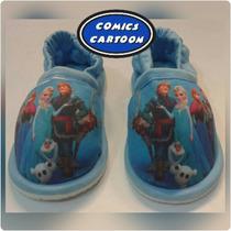Hermosas Babuchas Pantuflas Calzado Frozen Elsa Y Anna