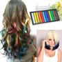 12 Tizas Para Pintar Teñir El Pelo Mechas Color Hair Chalk