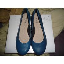 Zapatillas Nyus Azul De Piel Talla #39