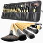 Set Maquillaje Profesional 24 Brochas Pinceles Y Mas Estuche