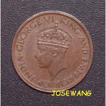 Cent , Moneda De Ceila Colonia Britanica Del Año 1945