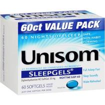Unisom Sueño Nocturno-aid Liquid Cápsulas 50 Mg 60 Tabletas