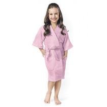 Roupão De Banho Menina Infantil Rosa G 12 A 14 Anos Lepper