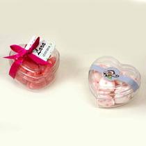 50 Caixinha Embalagem Coração Acrilico Ideal P/ Lembrancinha
