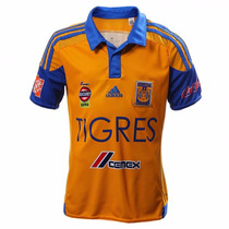 Playera Jersey Local Tigres 15/16 Niño Adidas S29559