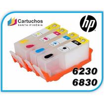 Cartucho Recarregável Hp 6230 6830 Chip Full Vazio