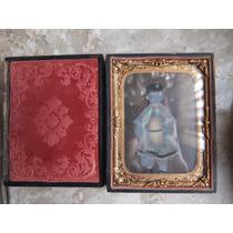 Antiguo Daguerrotipo Con Imagen De Niño En Su Caja Original