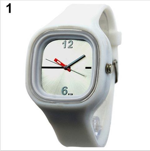 e7efe6df31e Relógio Analógico Jelly Pulseira Silicone Colorido Ss.com - R  28