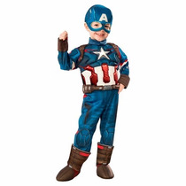 Disfraz Avengers 2 Capitan America 3/4 Años Entrega Inmediat