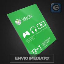 Cartão Xbox Live Gold Brasil Microsoft 12+1 Meses = 13 Meses
