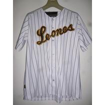 Camisa Blanca- Home Club- Leones Del Caracas- Modelo 1