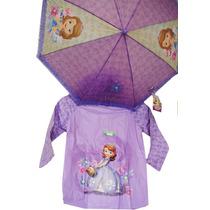 Piloto + Paraguas Princesa Sofia Disney Original Premium