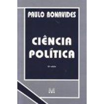 Livro Ciência Politica - 15ª Edição Paulo Bonavides