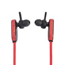 Audifonos Bluetooth Auricular Deportivos Rojos Y Blanco
