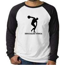Camiseta Raglan Curso Educação Física - Manga Longa