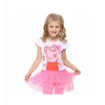 Vestido Disfraz Peppa Pig Tul. T. 2 A 4 Importado!! Hermoso!