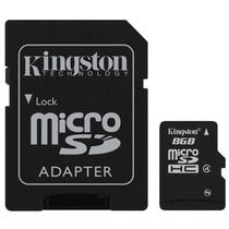Memoria Flash 8 Gb Micro Sdhc C/ Adaptador Sdc4/8gb Kingston