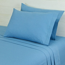Sabanas 100% Algodon Ks Cabos Zinc Azul Vianney Envio Gratis