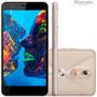 Oferta Quantum Müv Pro Android 6.0 Mirage Gold 12x Sem Juros